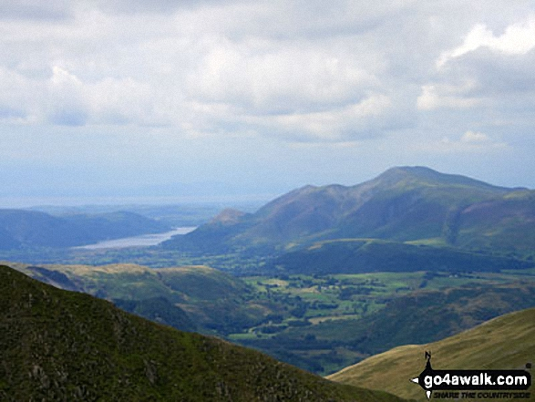 Bassenthwaite with Skiddaw beyond from Helvellyn