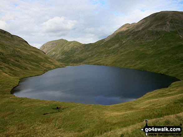 Grisedale Tarn with St Sunday Crag (centre left) and Fairfield (right)