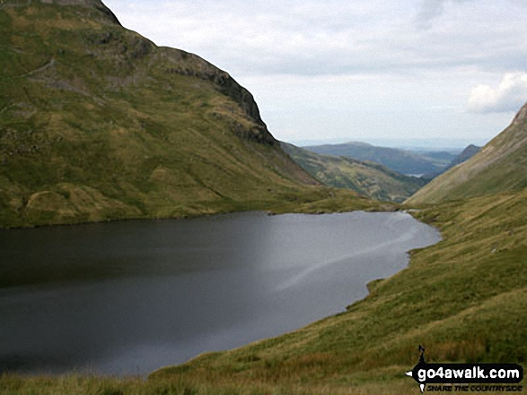 Grisedale Tarn. Walk route map c358 Seat Sandal, Fairfield and Heron Pike from Grasmere photo