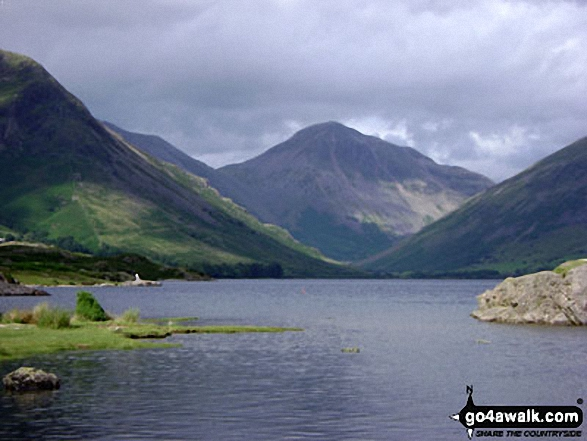Yewbarrow and Great Gable from Wast Water, Wasdale