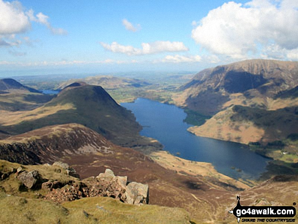 Mellbreak, Crummock Water and Grasmoor from the summit of Red Pike (Buttermere)