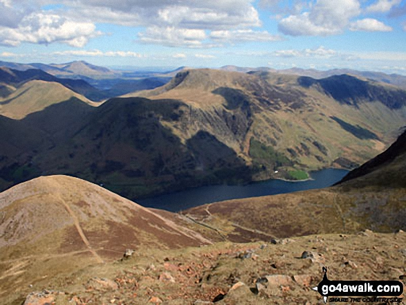 Walk c287 The High Stile Ridge and Hay Stacks from Buttermere - High Snockrigg, Robinson, Hindscarth and Dale Head (Newlands) above Dodd (Buttermere) and Buttermere Lake from Red Pike (Buttermere)