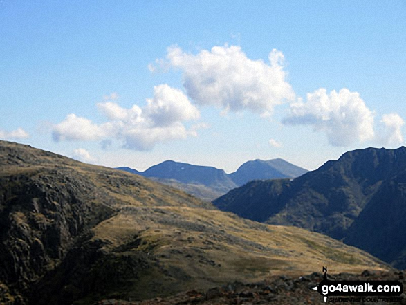 Great End, Scafell Pike and Sca Fell from near the summit of Red Pike (Buttermere)