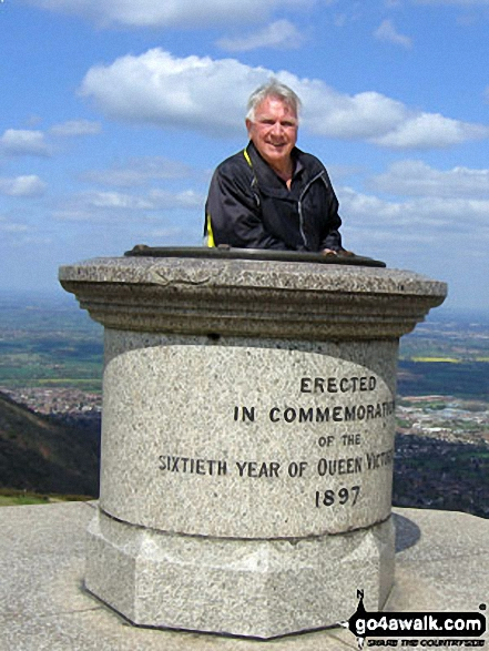William Baker on the Malvern (Worcestershire Beacon)