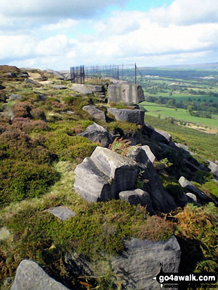 Approaching the Swastika Stone on Ilkley Moor