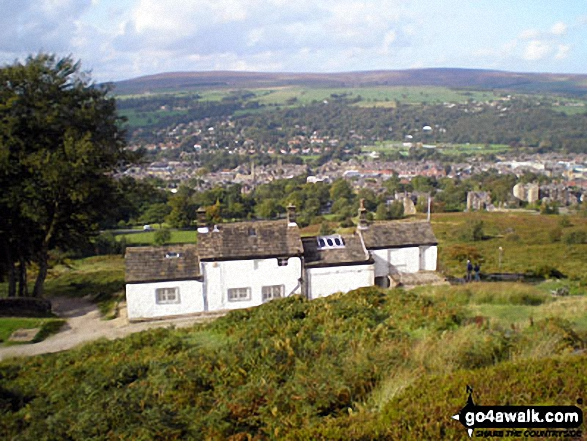 White Wells Farm and Ilkley from Rombalds Moor (Ilkley Moor)