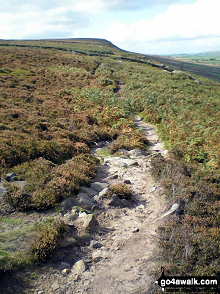 Climbing High Moor from the Swastika Stone