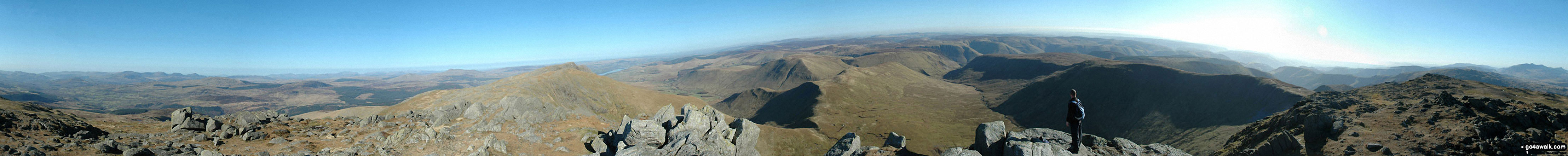 360 degree panorama from the summit of Aran Fawddwy