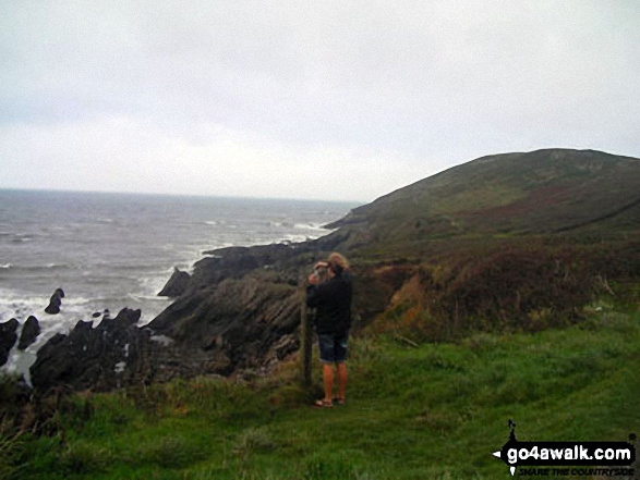 Me taking a photo from Baggy Point An amazing walk from Croyde and part of the South West Coast Path