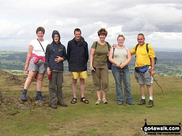 The Mann/Hall Clan on Caer Caradoc Hill walk The Shropshire Hills Shropshire England walks