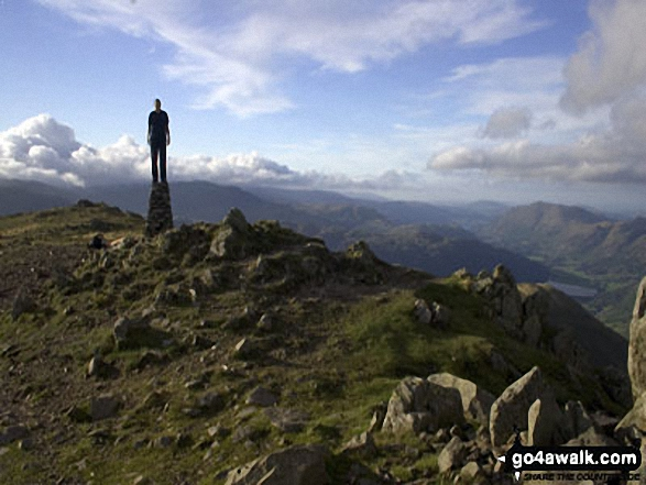 My son Matthew on Red Screes, Kirkstone Pass in The Lake District Cumbria England