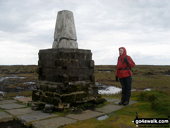 The Cheviot summit trig point