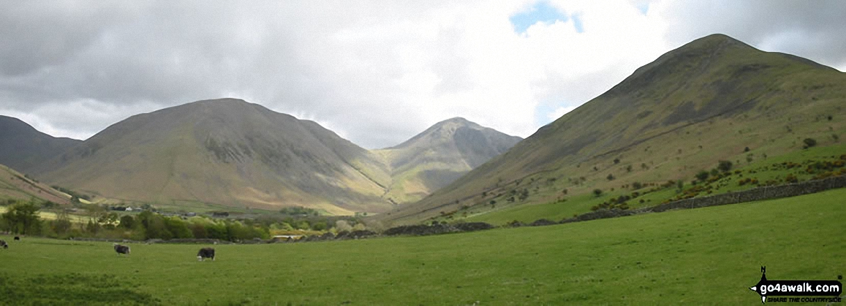 *Kirk Fell, Great Gable and Lingmell from Wasdale Head, Wast Water