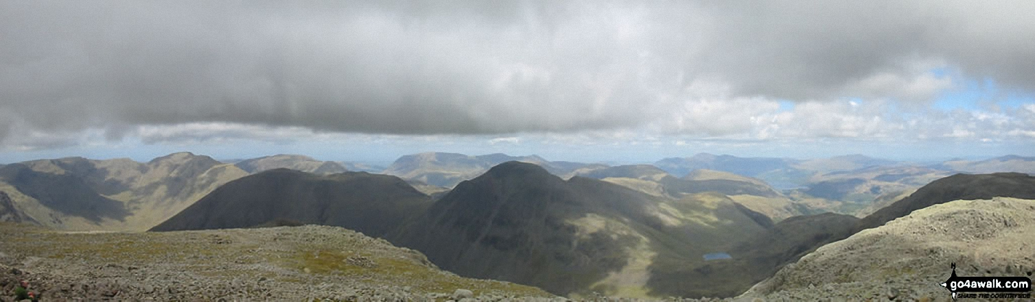 *Kirk Fell and Great Gable from Scafell Pike,