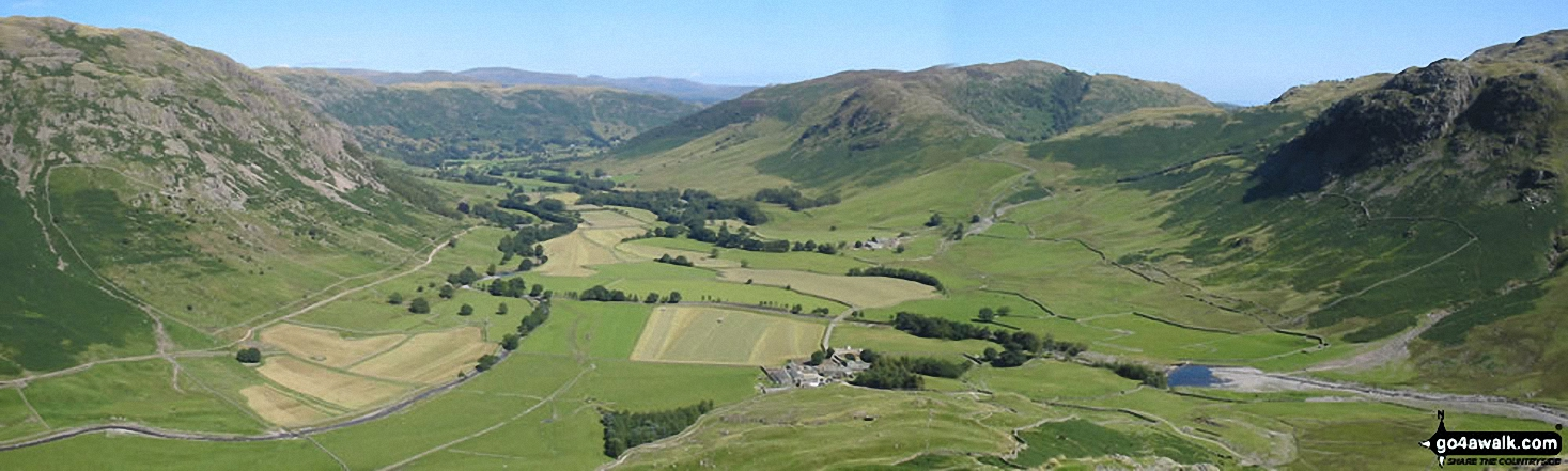 Walk c108 Crinkle Crags from The Old Dungeon Ghyll, Great Langdale - *The Langdale Valley from The Band