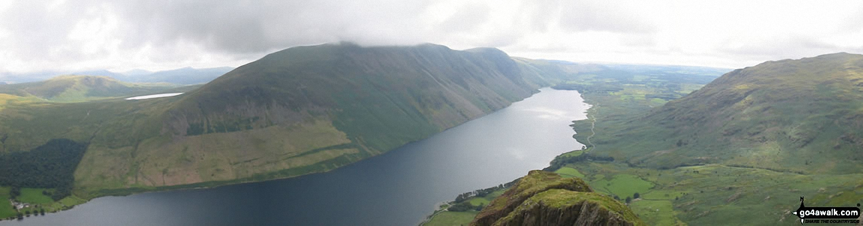 *Illgill Head (left), Wast Water (centre) and Middle Fell (right) from Yewbarrow