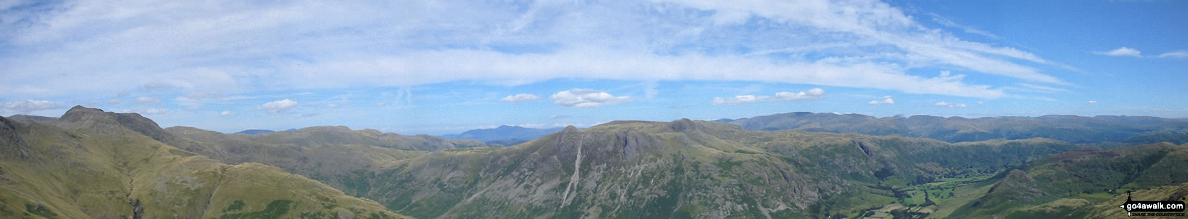 *Bow Fell (Bowfell), Rosett Pike and The Langdale Pikes from Pike of Blisco (Pike o' Blisco)