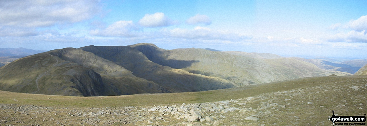 Dollywaggon Pike, Nethermost Pike and Helvellyn from Fairfield