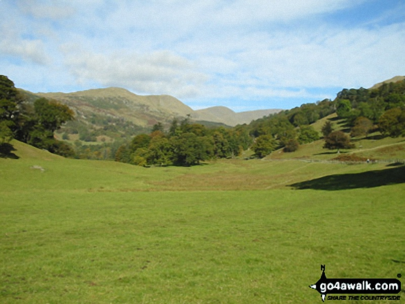 Nab Scar, Heron Pike, Great Rigg and Fairfield from Rydal Park. Walk route map c247 The Fairfield Horseshoe from Ambleside photo