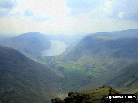 Wast Water and Wasdale Head from Westmorland Cairn, Great Gable