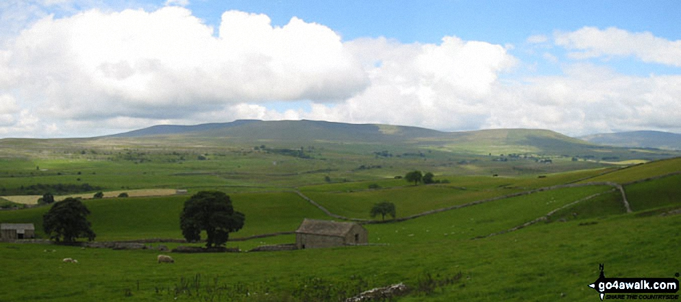 Ingleborough and Whernside from The Pennine Way near Hull Pot