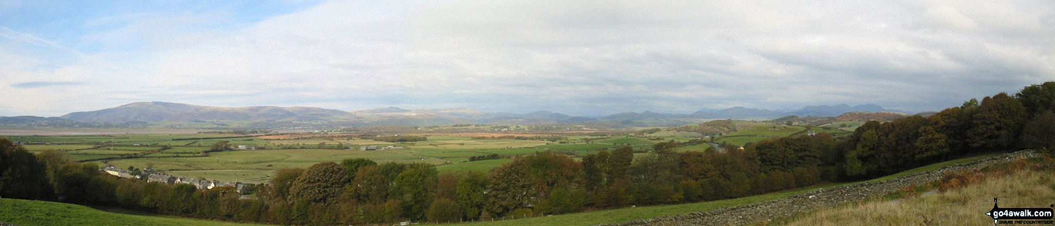 The Southern Fells from Black Combe to The Old Man of Coniston from Kirkby-in-Furness