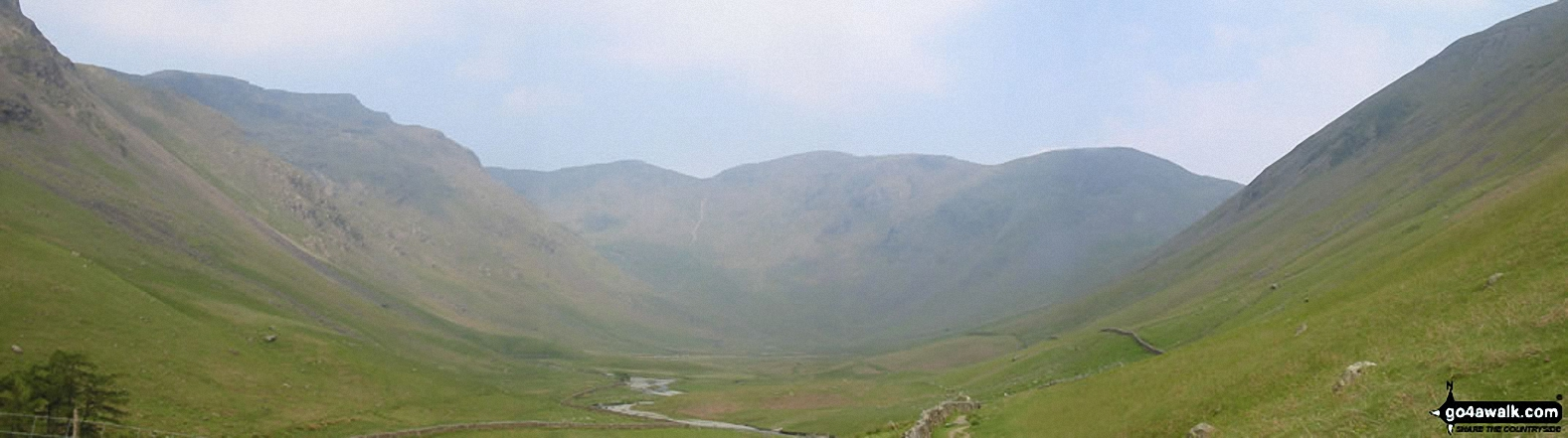 *Red Pike, Black Crag, Pillar and Looking Stead from Mosedale, Wasdale