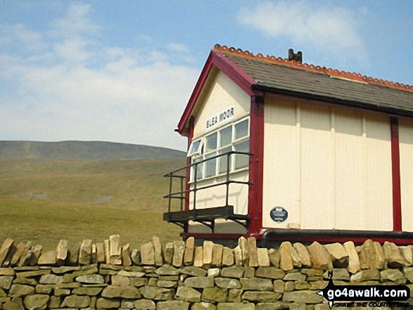 Blea Moor Signal Box with Whernside beyond