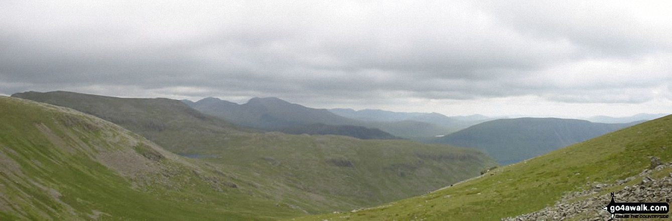 Red Pike, Illgill Head, Scafell Pike and Scafell from Haycock