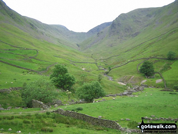 Stony Cove Pike (Caudale Moor) and Thornthwaite Crag from Hartsop. Walk route map c249 The Knott and Angletarn Pikes from Patterdale photo