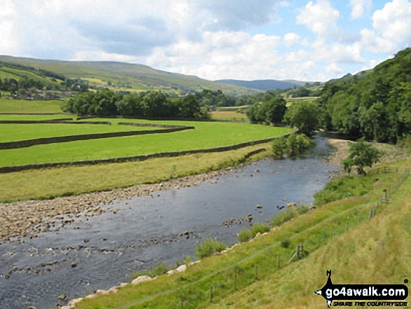 The River Swale with Muker beyond