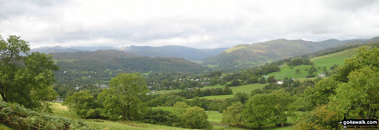 Ambleside from the lower slopes of Baystones (Wansfell)
