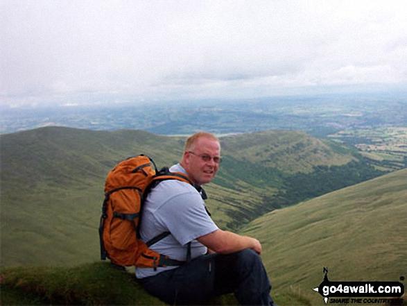 Walk po158 Pen y Fan from The Storey Arms Outdoor Centre - Myself on Pen Y Fan