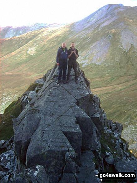 Rob and Fraser on the 'Xmas Tree' Llech Ddu Spur, Carnedd Dafydd