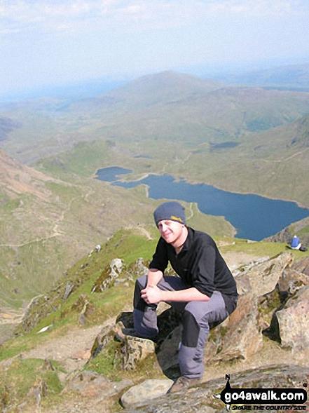 On Snowdon (Yr Wyddfa) with Llyn Llydaw beyond