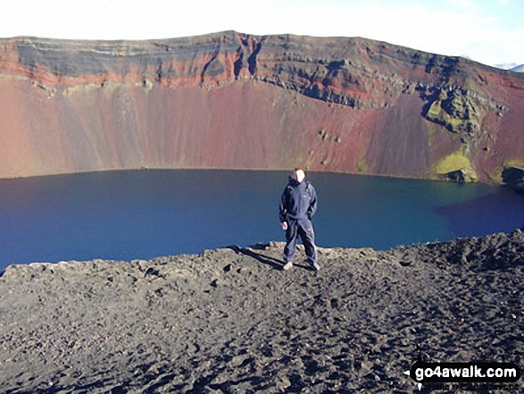 Will at Lake Ljotipollur which lies within the Caldera of an extinct volcano