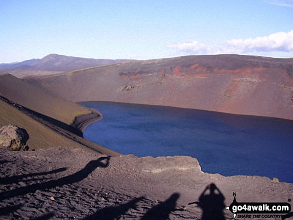 Lake Ljotipollur lying within the Caldera of an extinct volcano