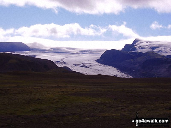 Glacier off Myrdalsjokull the main Ice cap