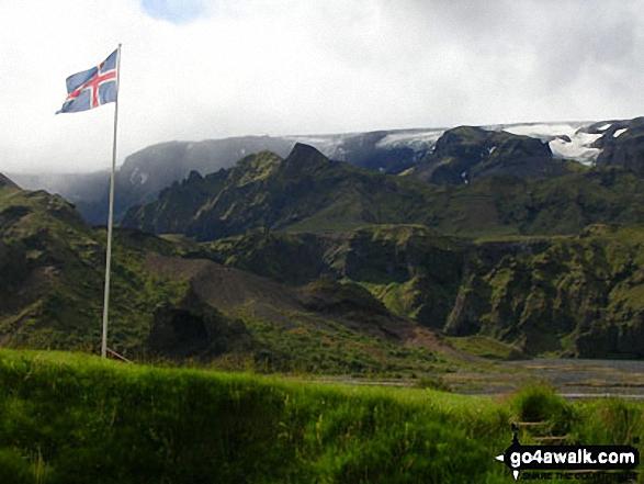 The main Myrdalsjokull Ice cap