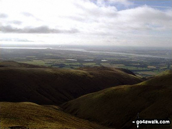 View from Ben Cleuch in The Ochil Hills