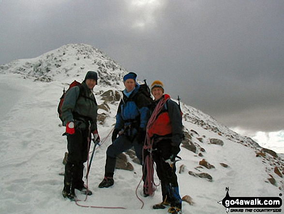Walk h162 Bidean nam Bian, Stob Coire Sgreamhach and Bein Fhada - Me and my two brothers (Paul and Laurie) on Stob Coire nan Lochan (Bidean nam Bian)