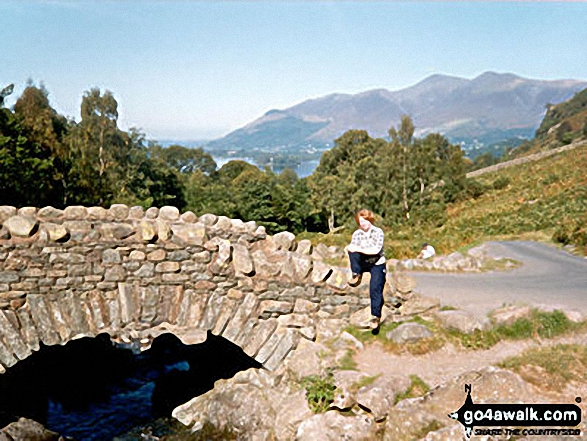 Ashness Bridge with Skiddaw in the background