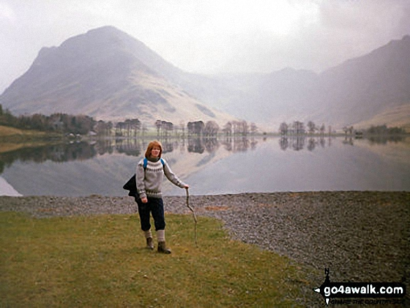 Buttermere and Fleetwith Pike. Walk route map c228 Hay Stacks from Buttermere photo