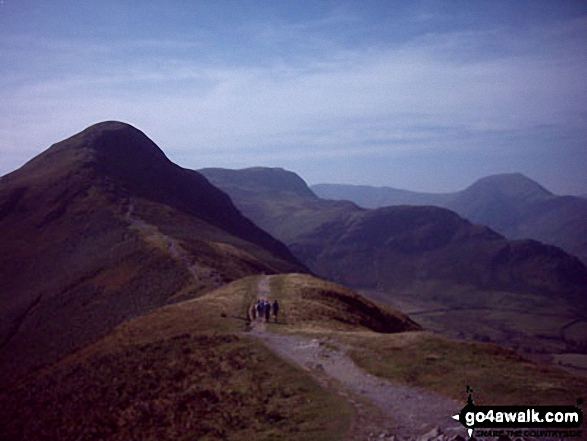 Cat Bells (Catbells) from Skelgill Bank. Walk route map c399 Cat Bells and Derwent Water from Keswick photo