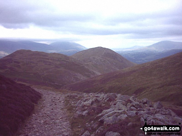 Walk Outerside walking UK Mountains in The North Western Fells The Lake District National Park Cumbria    England