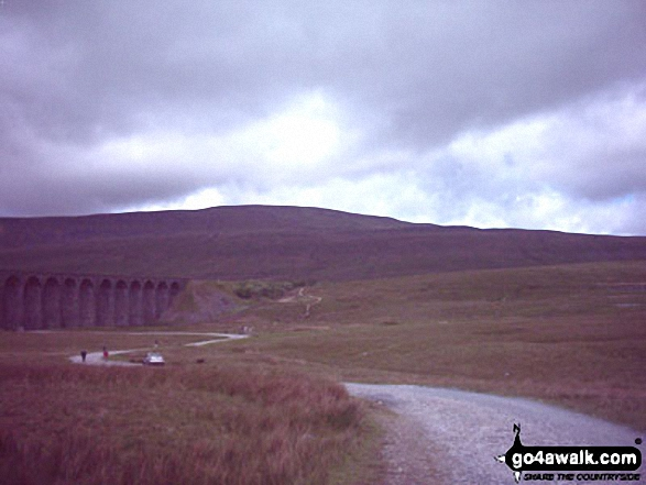 The Yorkshire Three Peaks Challenge - approaching Whernside from Ribblehead