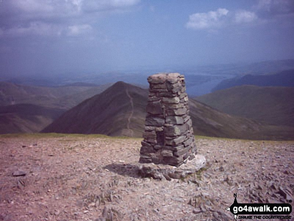 Walk Helvellyn walking UK Mountains in The Eastern Fells The Lake District National Park Cumbria    England
