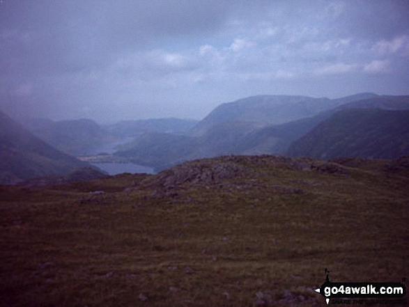 Buttermere and Crummock Water from Moses' Trod below Brandreth