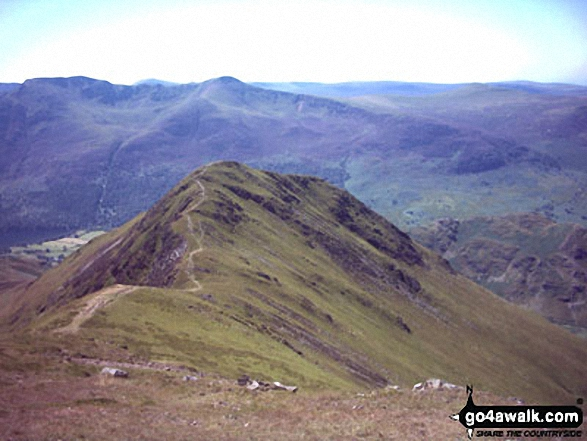 Whiteless Pike from above Wandope. Walk route map c310 The Coledale Horseshoe from Braithwaite photo