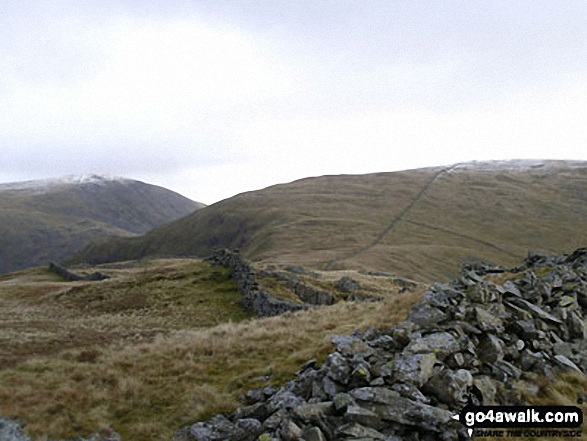 Stony Cove Pike (Caudale Moor) from Hartsop Dodd. Walk route map c128 The Hayswater Round from Hartsop photo